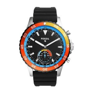 Fossil Q Crewmaster Smartwatch Black Silicone Mens